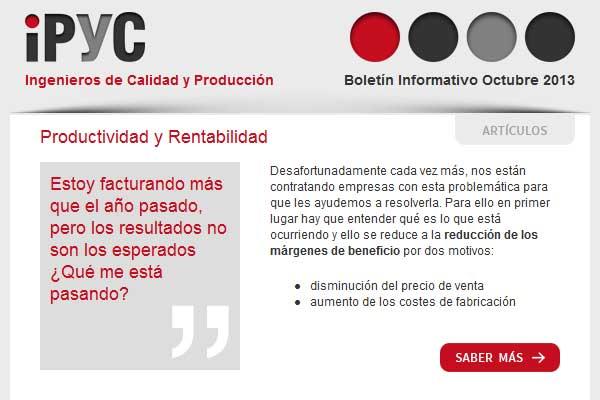 Boletín informativo IPYC Octubre 2013