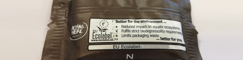 Etiqueta ecológica en envase