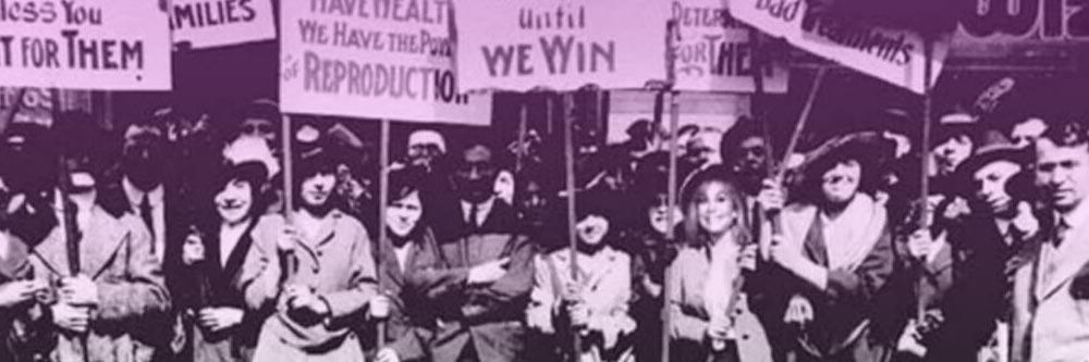 La manifestación Pan y Rosas. Historia del 8M