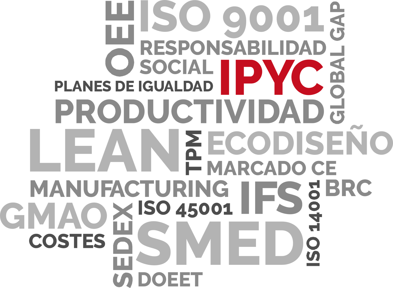 Servicios IPYC en Organización Industrial y Lean Manufacturing, Certificación de Sistemas y Digitalización Industrial.