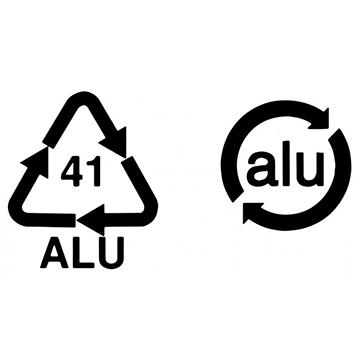 ISO 14021. Símbolo de aluminio reciclable